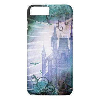 Pretty Blue Fairy Tale Fantasy Garden Castle iPhone 7 Plus Case