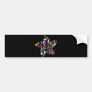 Pretty Flower Star Bumper Sticker