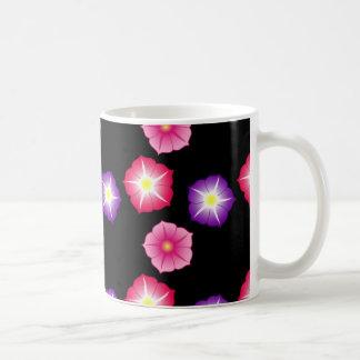 Pretty Flowers Abstract Design Basic White Mug