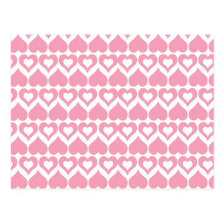 Pretty Pink Hearts Cards, Stickers, Envelopes Postcard