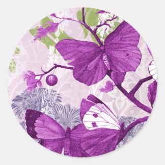 Pretty Purple Butterfly Sticker