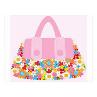 pretty purse postcard