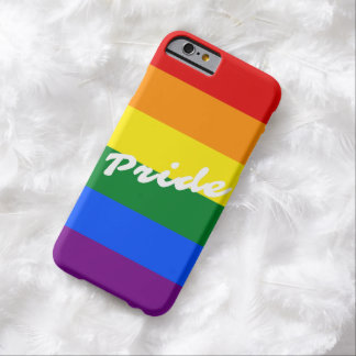 Pride Logo LGBT 6-Stripe Rainbow Gay Pride Flag Barely There iPhone 6 Case