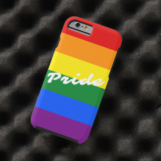 Pride Logo LGBT 6-Stripe Rainbow Gay Pride Flag Tough iPhone 6 Case