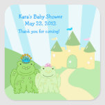 Prince and Princess Frog SQUARE Favour Sticker