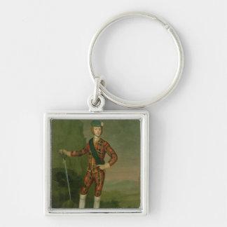 Prince Charles Edward Stuart Silver-Colored Square Key Ring