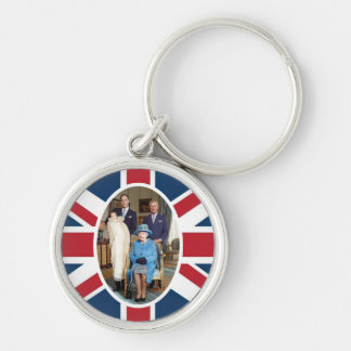 Prince George - William & Kate Silver-Colored Round Key Ring