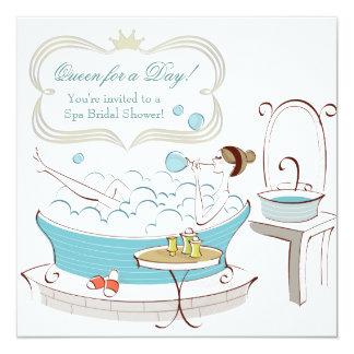 Princess Bride Spa Bridal Shower 13 Cm X 13 Cm Square Invitation Card