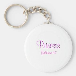 Princess, Galatians 4:7 Basic Round Button Key Ring