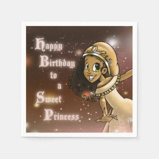 """Princess Priya Birthday Paper Napkins"" Paper Napkins"