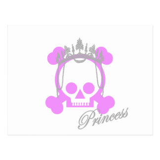 Princess Skull Postcard