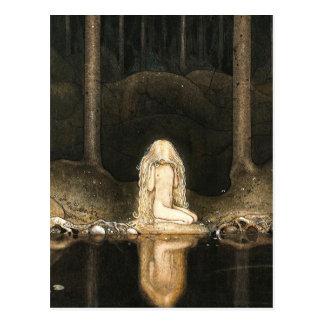 Princess Tuvstarr gazing at her reflection Postcard