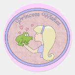 Princess Wishes Round Sticker