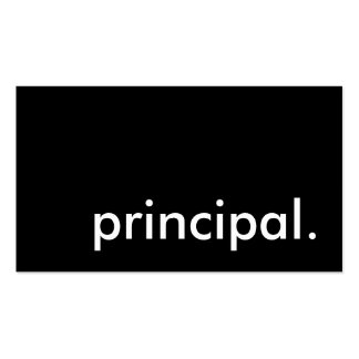 principal. pack of standard business cards