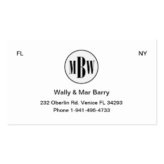 Private Business Card MBW 3