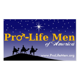 pro_life_men_highres, www.ProLifeMen.org Pack Of Standard Business Cards