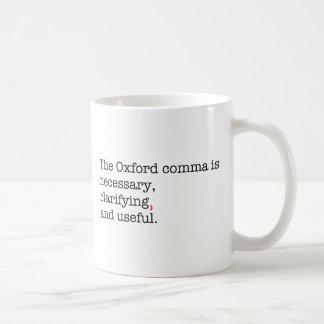 Pro-Oxford Comma Basic White Mug