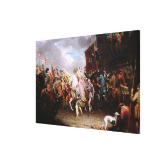 Procession to the Roiall Justs Holden in Smithfiel Gallery Wrap Canvas