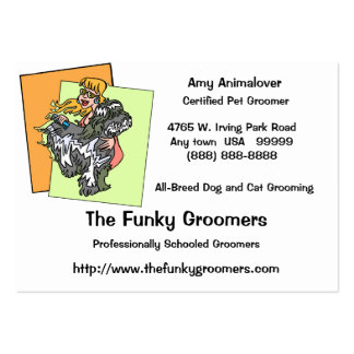 Professional Dog And Cat Grooming Cards Pack Of Chubby Business Cards