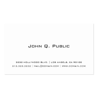 Professional Simple White Pack Of Standard Business Cards