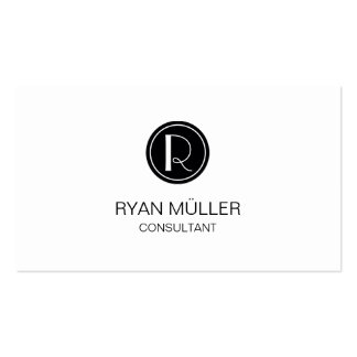 Professional Sophisticated Chic Plain and Monogram Pack Of Standard Business Cards