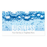 Professional Water & Bubbles Cleaning Service Pack Of Standard Business Cards