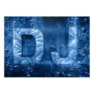 Proffesional blue exploding DJ logo business card
