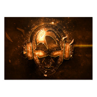 Proffesional fire exploding DJ logo business card