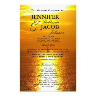 Program | Ocean Sunset Golden 14 Cm X 21.5 Cm Flyer