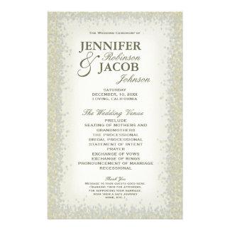 Program - Romantic Vintage Gold and Silver Glitter 14 Cm X 21.5 Cm Flyer