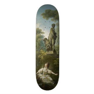 Progress of Love: The Rendezvous by Fragonard Custom Skateboard