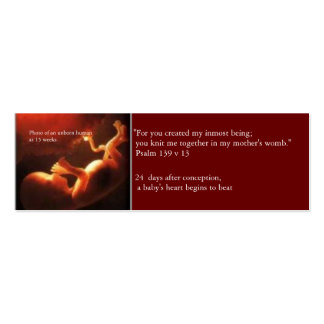 Prolife Card Pack Of Skinny Business Cards