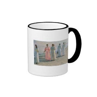 Promenade on the Beach Ringer Mug