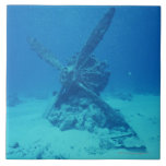 Propeller on the Bottom of Sea Large Square Tile