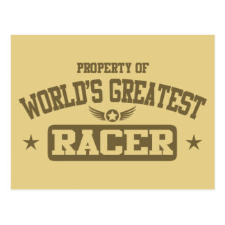 Property Of World's Greatest Racer Postcard
