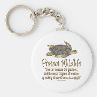 Protect Sea Turtles Basic Round Button Key Ring