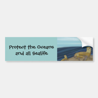Protect the Oceans and Sealife Bumper Sticker