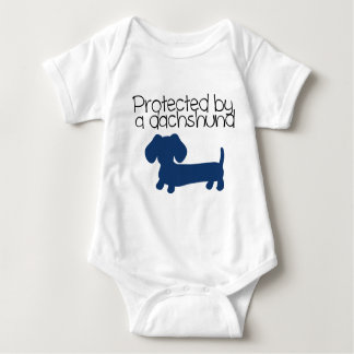 Protected by a Dachshund (blue) Shirt