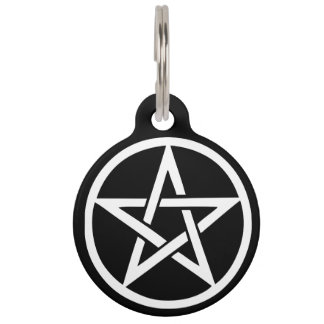 Protective Witches Familiar Pentacle Pet Tag