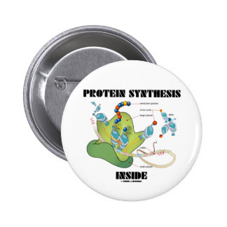 Protein Synthesis Inside (Cell Biology) 6 Cm Round Badge