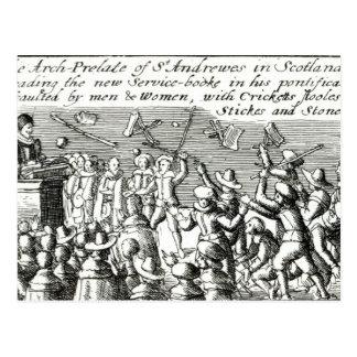 Protesters in Edinburgh, 1637 Postcard