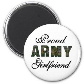 Proud Army Girlfriend 6 Cm Round Magnet