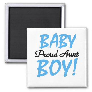 Proud Aunt Baby Boy Tshirts and Gifts Square Magnet