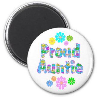 Proud Auntie 6 Cm Round Magnet