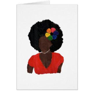 Proud Brown Lady Greeting Card