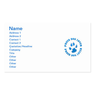 Proud Dog Lover Pack Of Standard Business Cards