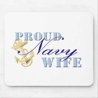 Proud Navy Wife Mouse Pad