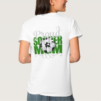 """Proud Soccer Mom in Green with """"J"""" name T-shirt"""
