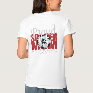 """Proud Soccer Mom in Red with """"J"""" name Tshirts"""