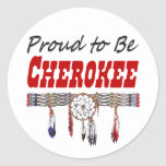Proud to be Cherokee Window Decal or Stickers